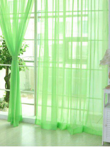 Fancy Sheer Window Tulle Fabric Curtain For Living Room - 100*200CM APPLE GREEN Mobile