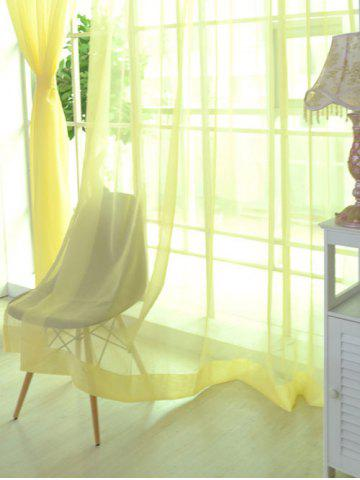 Best Sheer Window Tulle Fabric Curtain For Living Room - 100*200CM LIGHT YELLOW Mobile