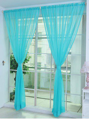 Unique Sheer Window Tulle Fabric Curtain For Living Room - 100*200CM COASTAL Mobile