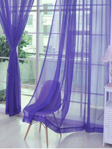 Sheer Window Tulle Fabric Curtain For Living Room - Purple - 100*200cm