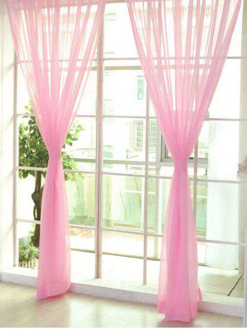 Buy Sheer Window Tulle Fabric Curtain For Living Room - 100*200CM PEARL LIGHT PINK Mobile