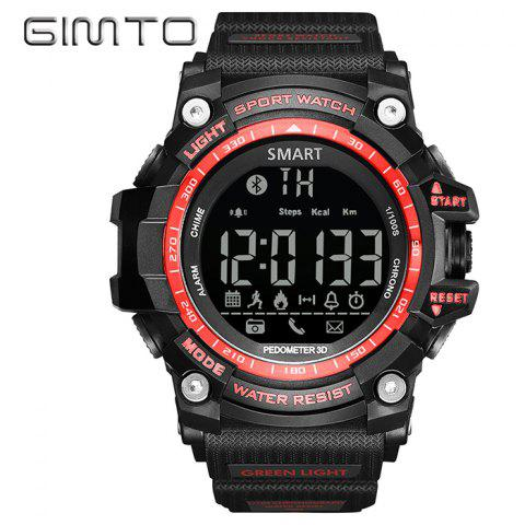Online GIMTO Sport Pedometer Remider Bluetooth Smart Watch RED