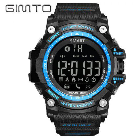 Discount GIMTO Sport Pedometer Remider Bluetooth Smart Watch - BLUE  Mobile