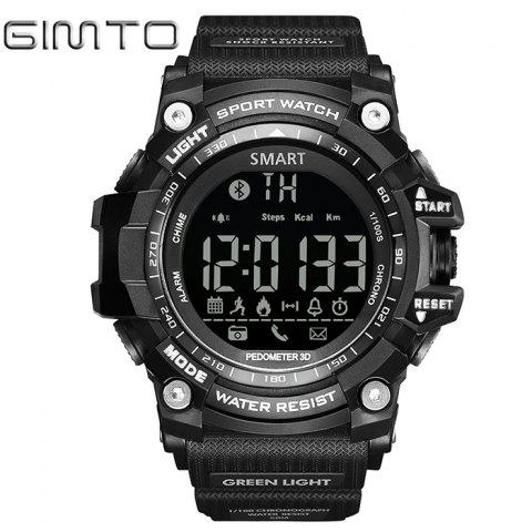 GIMTO Sport Podomètre remider Bluetooth montre Smart Watch Noir