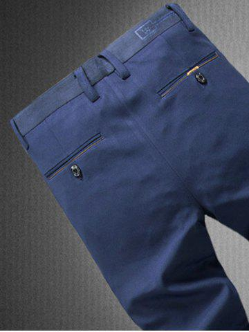 Outfit Zipper Fly Plain Chino Pants - 36 GRAY Mobile