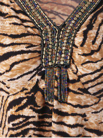 Tiger Stripe Flare Sleeve T-Shirt with Beading от Rosegal.com INT