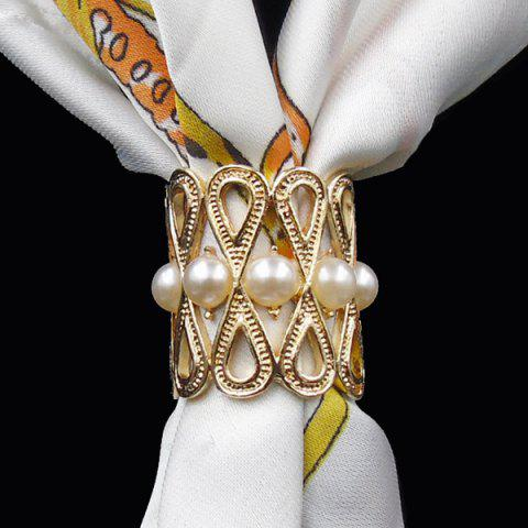 Sale Vintage Faux Pearl Infinite Brooch Scarf Buckle - GOLDEN  Mobile