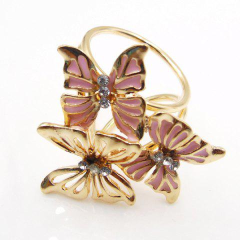 Cheap Vintage Rhinestone Butterfly Scarf Buckle Brooch - PINK  Mobile