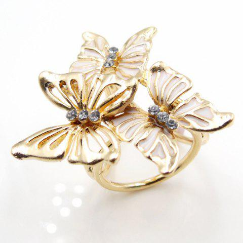 Cheap Vintage Rhinestone Butterfly Scarf Buckle Brooch - WHITE  Mobile