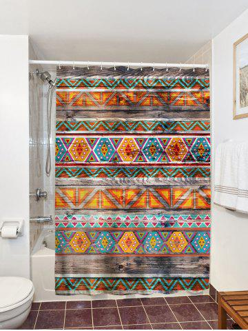 Outfits Eco-Friendly Dream Tribal Wooden Print Shower Curtain - 150*180CM COLORMIX Mobile