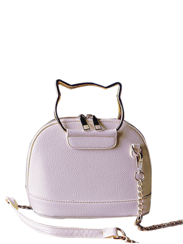 Outfits Metal Handle Crossbody Bag with Chains