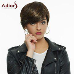 Fashion Blonde Highlight Synthetic Straight Short Layered Cut Women's Wig