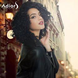 Adiors Medium Side Parting Afro Curly Synthetic Capless Wig