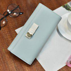 Bow Detail Tri Fold Clutch Wallet