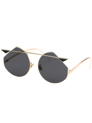 Cat Eye Metallic Crossbar Cut lens Sunglasses