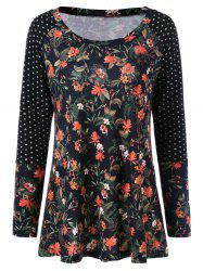 Raglan Sleeve Tiny Floral T-Shirt