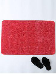Absorption souple Tissu Skidproof Tapis - Rouge