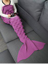 Hedgehog Design Knitted Mermaid Tail Blanket -