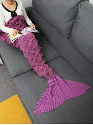 Handmade Crochet Hedgehog Design Mermaid Blanket