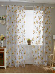 Flower Embroider Sheer Fabric Voile Curtain -