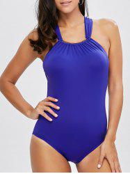 High Neck Metal Design One Piece Swimwear