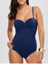 Cut Out Padded Skinny One Piece Swimwear