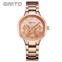 GIMTO Metallic Strap Analog Quartz Watch