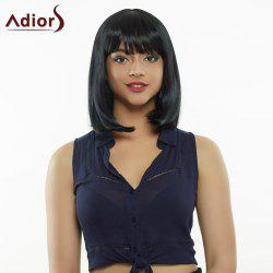 Stylish Medium Straight High Temperature Fiber Women's Wig