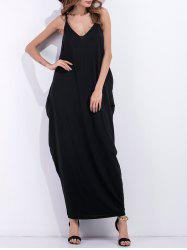 Loose Fit V-Neck Casual Maxi Beach Dress