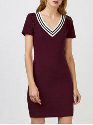 V Neck Mini Cricket Sweater Dress