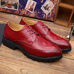 Embossing Tie Up Formal Shoes