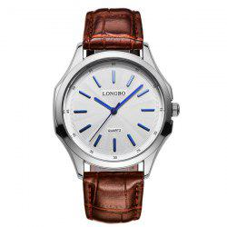 Artificial Leather Quartz Analog Watch