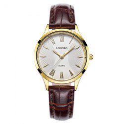 Roman Numeral Faux Leather Quartz Watch