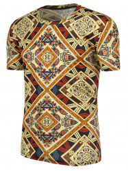 Ethnic Printing Short Sleeves T-Shirt