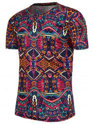 National Pattern Short Sleeves T-Shirt