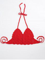 Halter Crochet Cute Bathing Suit Top -