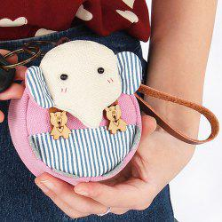 Cartoon Elephant Canvas Coin Purse