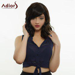 Adiors Hair Medium Side Bang Fluffy Culry Synthetic Wig
