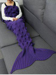 Knit Massage Contour Throw Mermaid Blanket