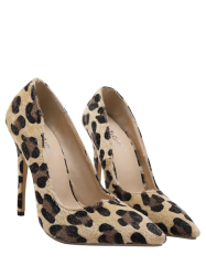 Leopard Print Mini Heel Pumps