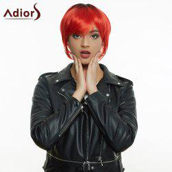 Adiors Hair Short Cut Side Bang Straight Synthetic Wig