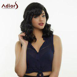 Adiors Hair Fluffy Medium Side Bang Big Curly Synthetic Wig
