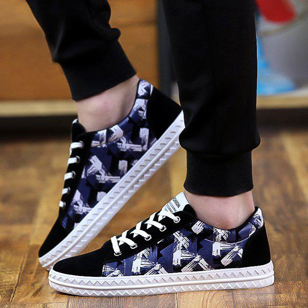 Discount Faux Suede Lace Up Casual Shoes