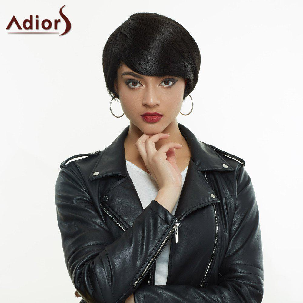 Shops Adiors Short Silky Straight Inclined Bang High Temperature Fiber Wig