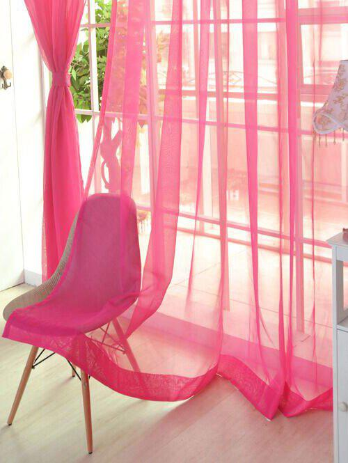 Latest Sheer Window Tulle Fabric Curtain For Living Room