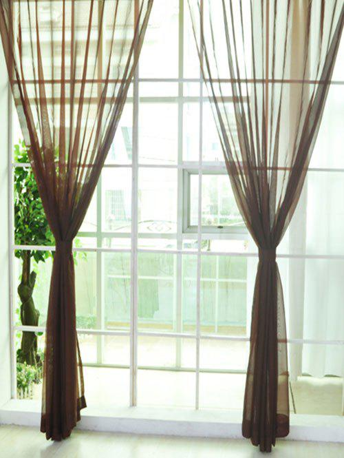 Trendy Sheer Window Tulle Fabric Curtain For Living Room