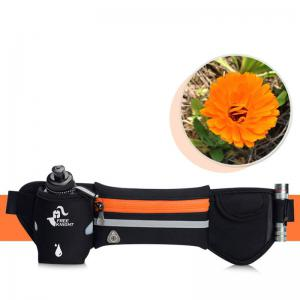 Freeknight Headphone Jack Reflective Waist Bag with One Water Bottle - Orange