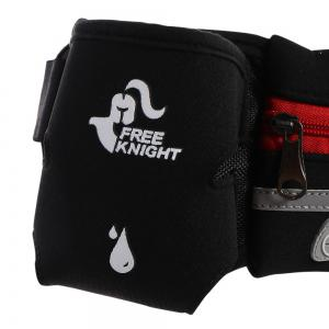 Freeknight Headphone Jack Reflective Waist Bag with One Water Bottle -
