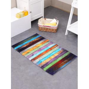 Colorful Stripe Antislip Floor Bathroom Rug
