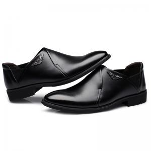 PU Leather Elastic Band Formal Shoes -